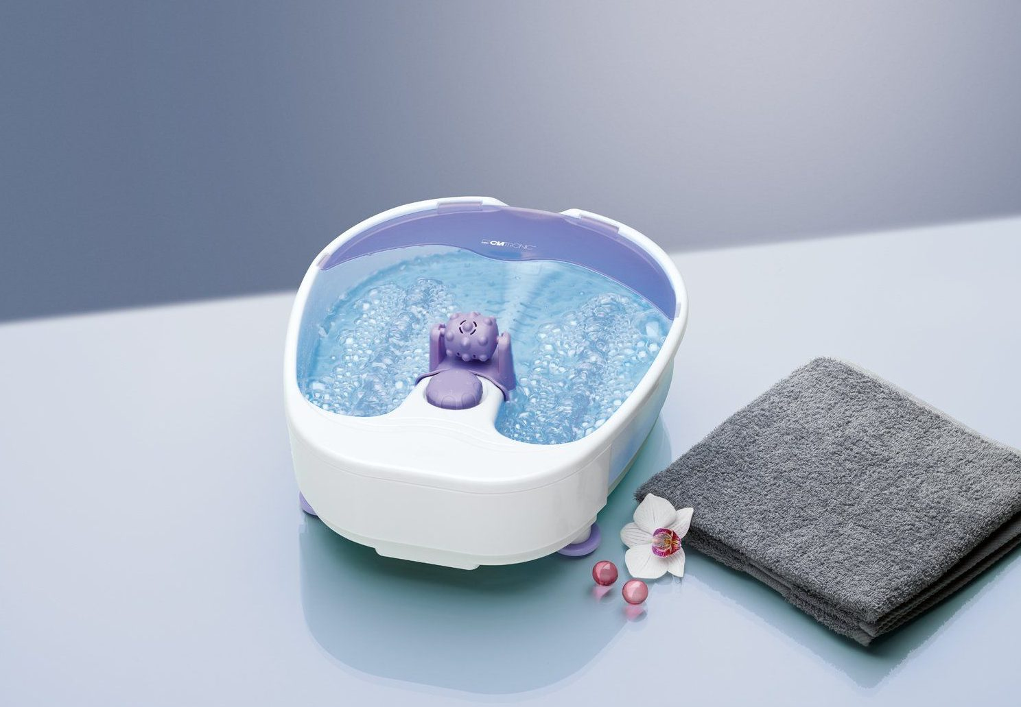fotbad med massage test